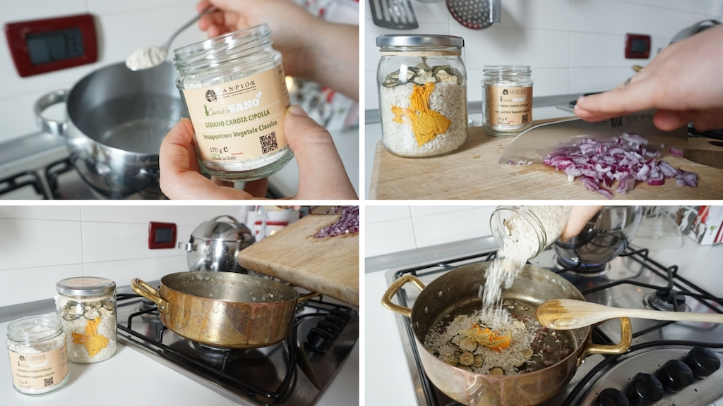 come preparare la base per un risotto